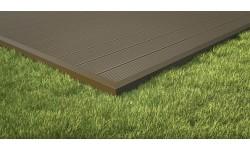 Profilé de finition aluminium pour lames de terrasse pleines P 9360 et P 9369