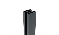 BOSTON - Poteau renforcé en aluminium 75 x 75 mm - 1840mm