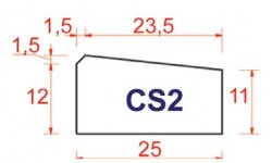 BORDURE DE CANIVEAU CS2
