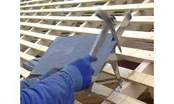 Marteau de couvreur manche cuir panne courte pour droitier