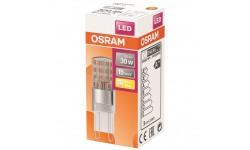 Ampoule LED capsule claire 2.6 W 30 G9 chaud