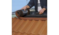 Closoir de ventilation souple DELTA-ECO ROLL 310 mm rouge 5 m