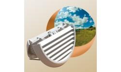 In and Out est une grille innovante, unique sur le marché, qui permet la pose du côté intérieur