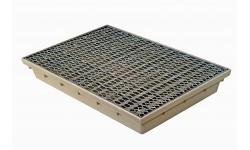 Paillasson encastrable MEARIN 600 x 400 + Grille métal déployé