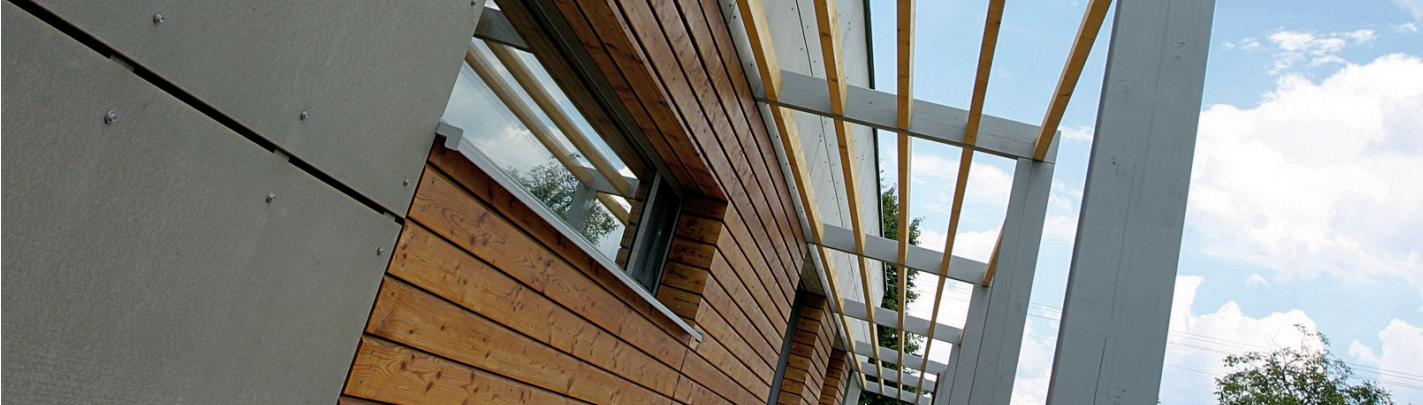 Extérieur d'une maison en bois