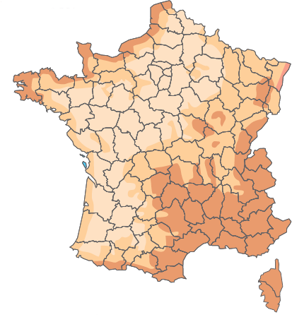Zones d'application des pentes en France